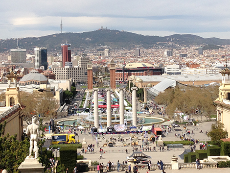 walking tour montjuic